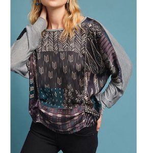 ANTHROPOLOGIE Tiny Micah Drape Ruched Top XS